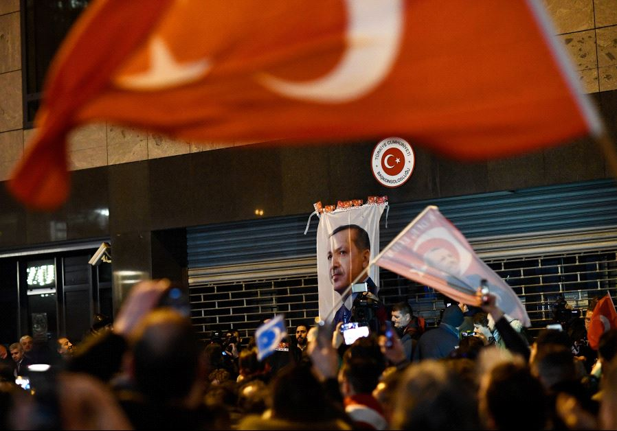 Dutch riot police break up pro-Erdogan demonstration as Turkey vows retaliation