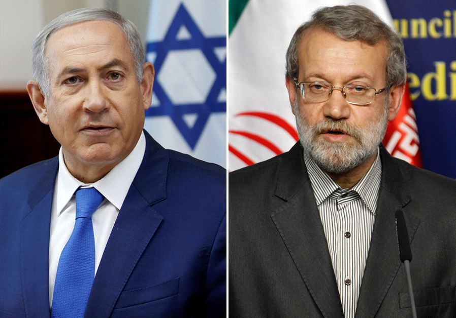 Netanyahu and Larijani ‏