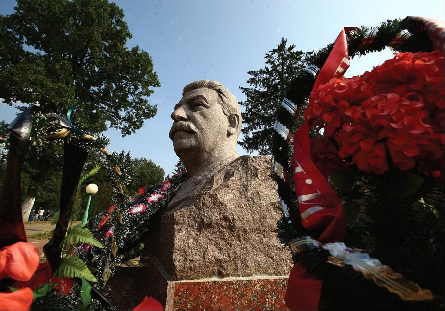 JOSEPH STALIN'S monument is pictured near a village in what is now Belarus.