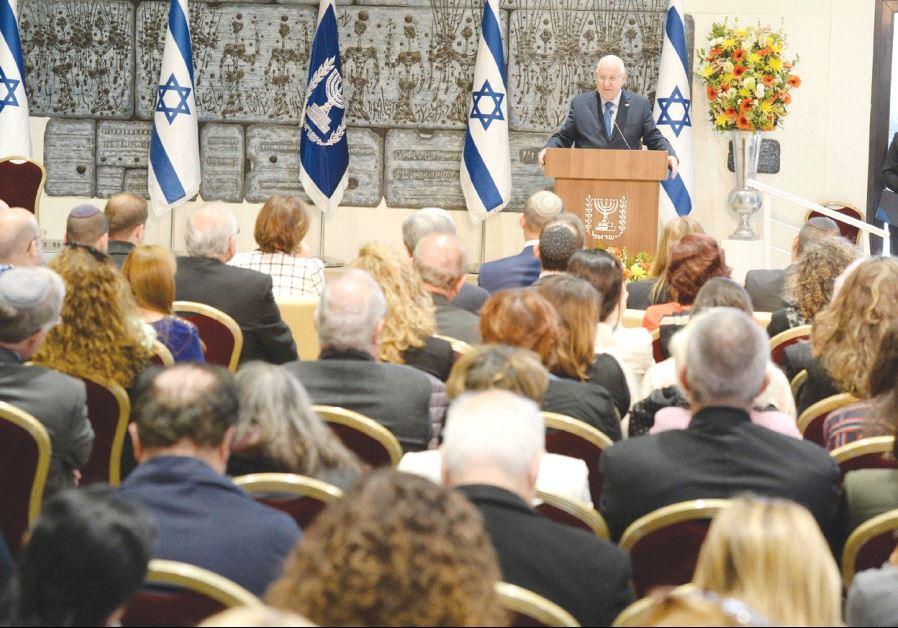 PRESIDENT REUVEN RIVLIN addresses the 13th Council for Higher Education appointment ceremony.