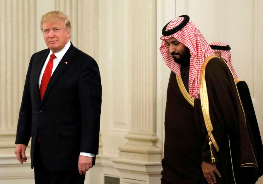 US President Donald Trump and Saudi Deputy Crown Prince and Minister of Defense Mohammed bin Salman