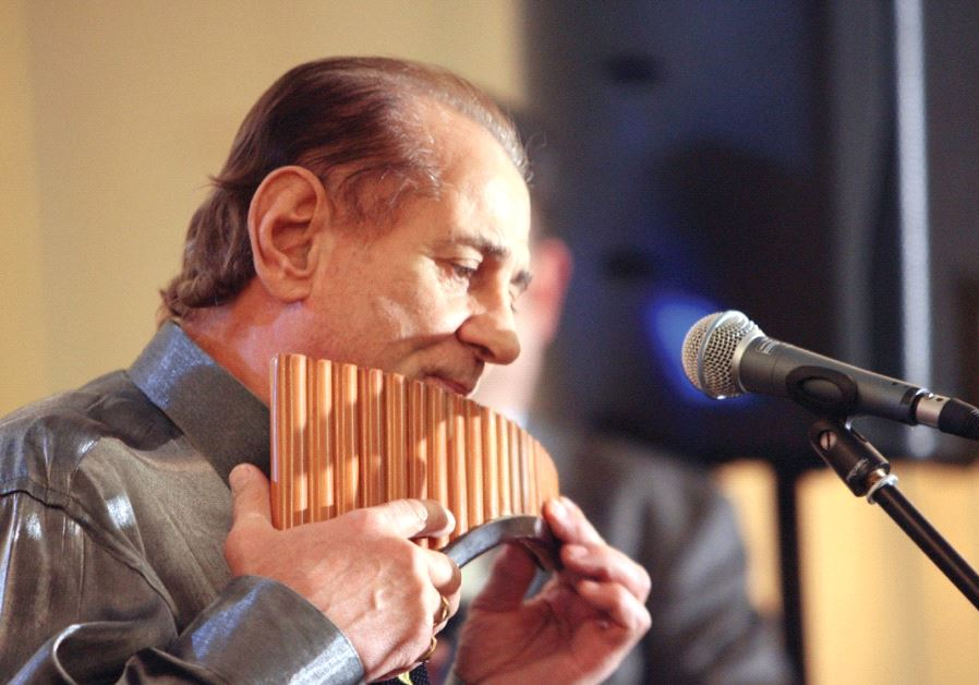 RENOWNED ROMANIAN pan pipe player Gheorghe Zamfir.