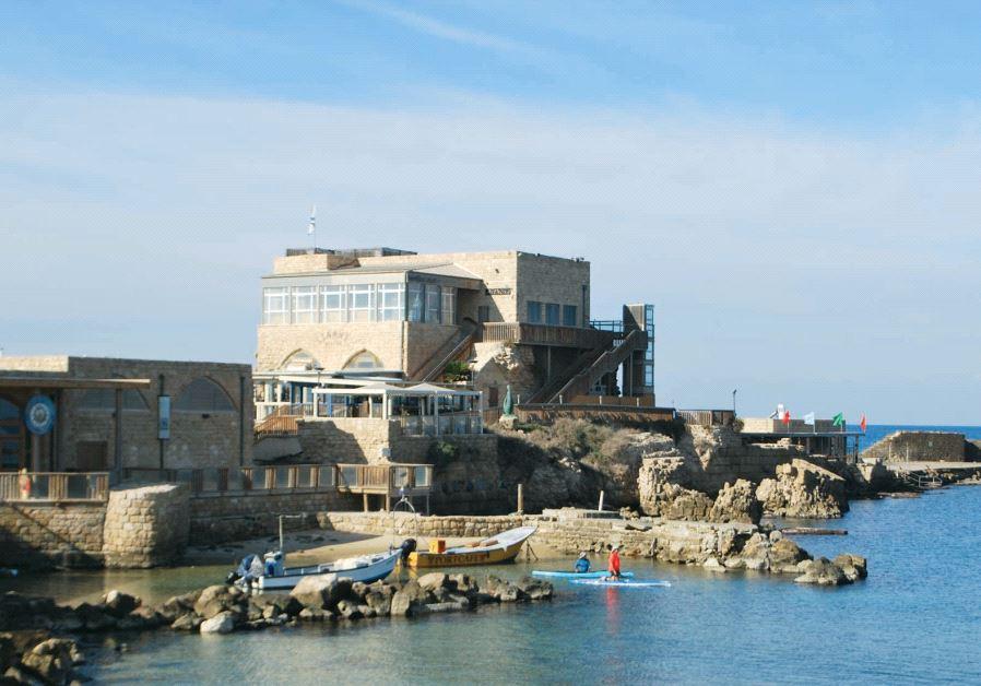 The ancient port of Caesarea