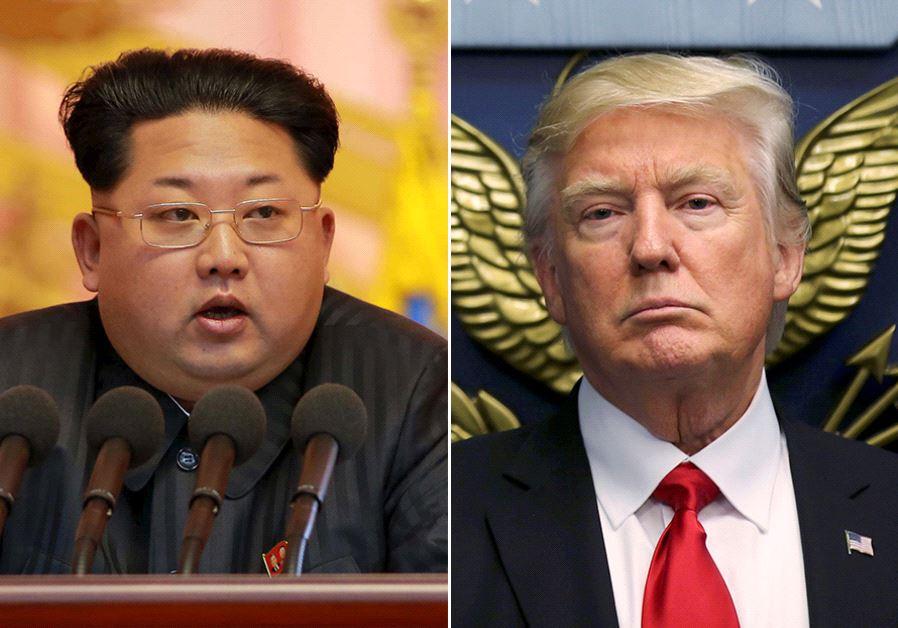 Donald Trump and Kim Jong Un (photo credit: REUTERS)