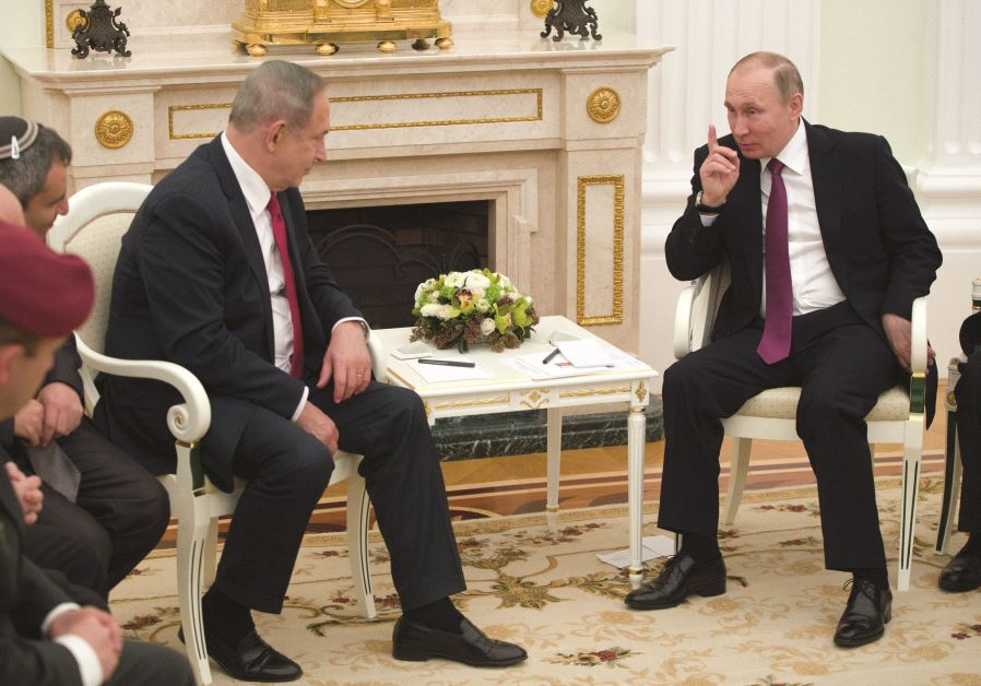 Un entretien entre Benyamin Netanyahou et Vladimir Poutine