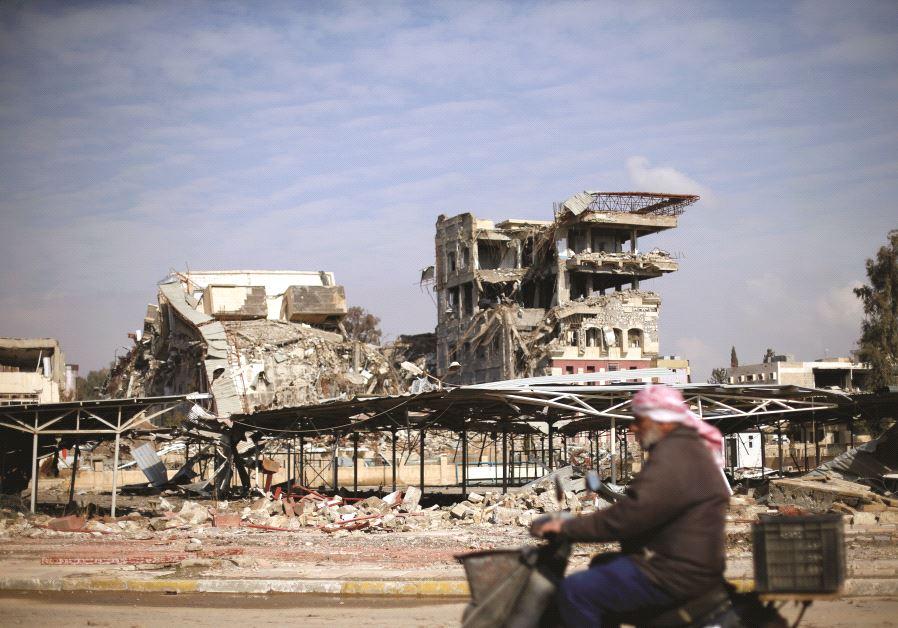 Les ruines de l'université de Mossoul, le 30 janvier dernier.