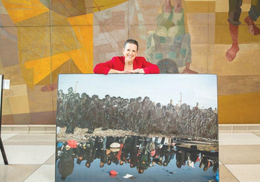 ISRAELI SCULPTOR Orna Ben-Ami presents her latest exhibit at the UN headquarters in New York.