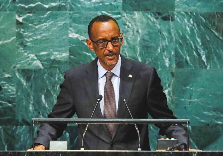 RWANDAN PRESIDENT Kagame addresses the United Nations General Assembly in New York last year.