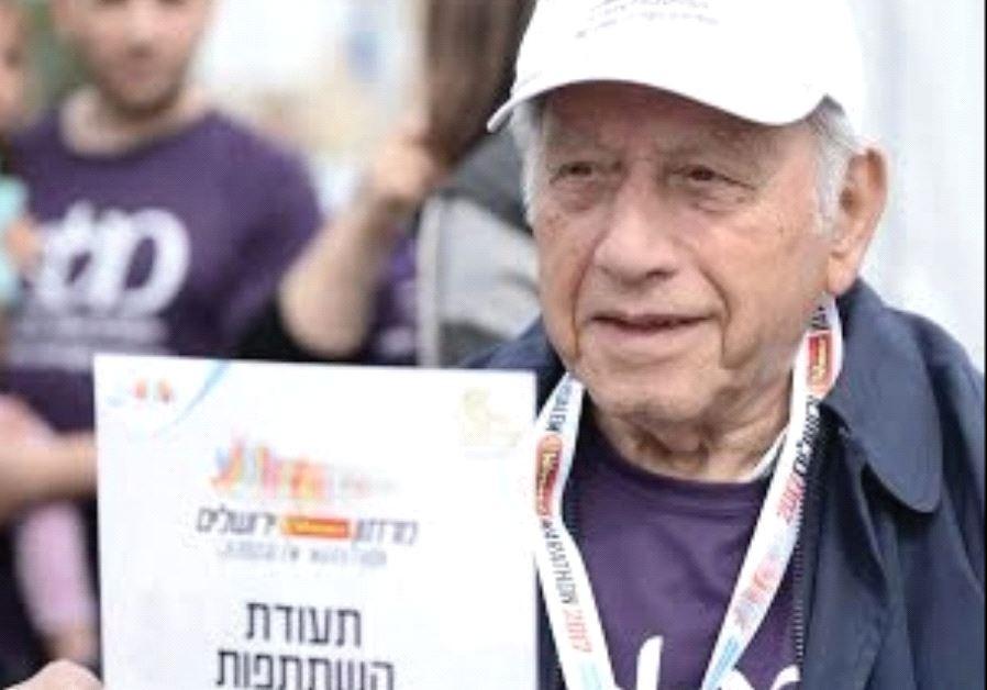 YEHEZKEL SAAD, a Melabev participant in the Jerusalem Marathon