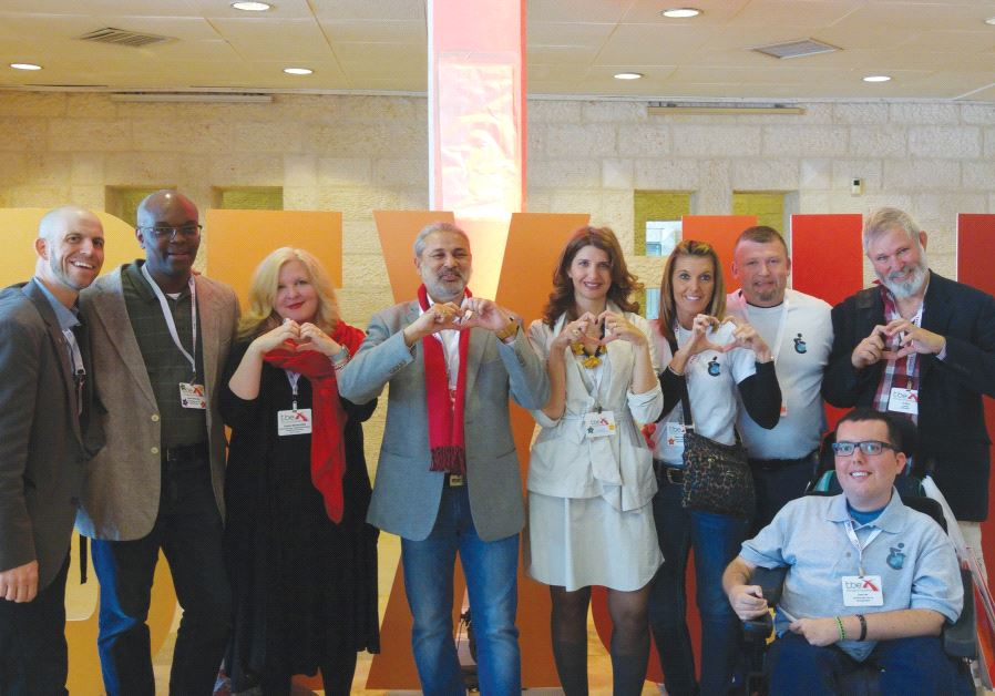 DIRECTOR OF TOURISM at the Jerusalem Development Authority Ilanit Melchoir (center) joins delegates