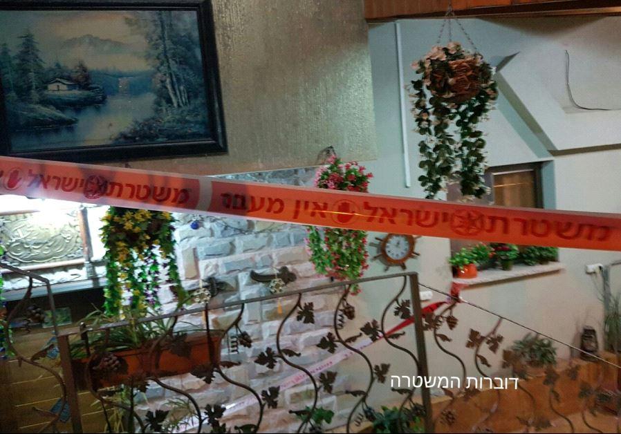 Picture of the crime scene in Nazareth, Saturday night.