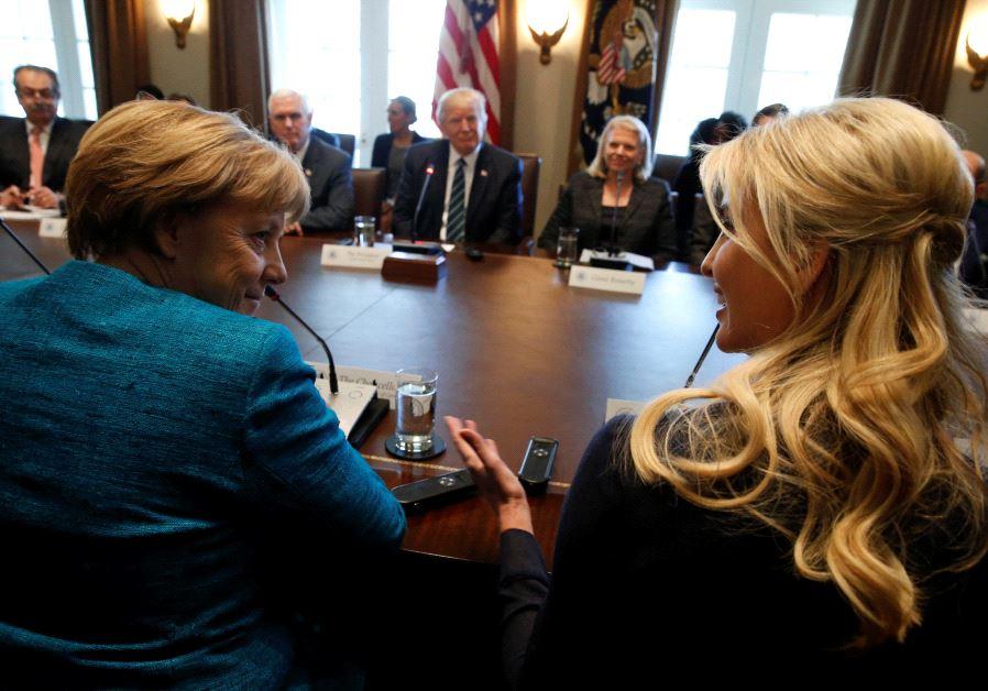 Merkel ivanka trump
