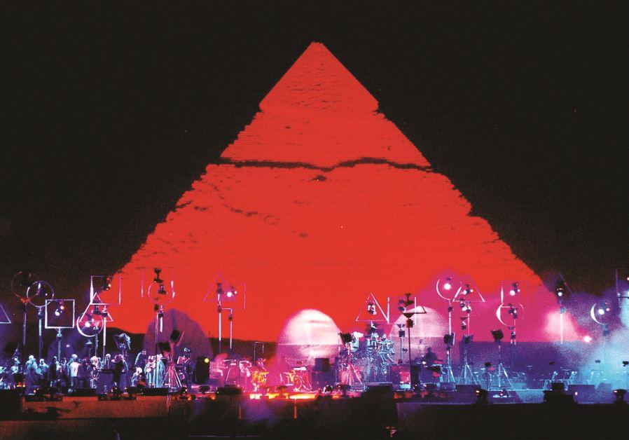 Un des concerts de Jean-Michel Jarre, en Egypte