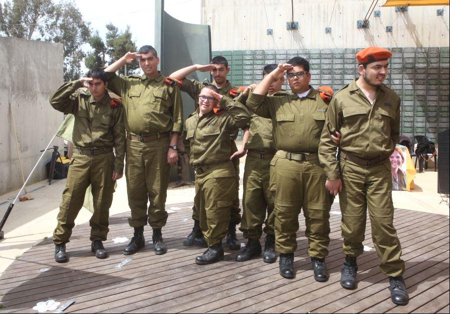 Developmentally disabled soldiers sworn into IDF