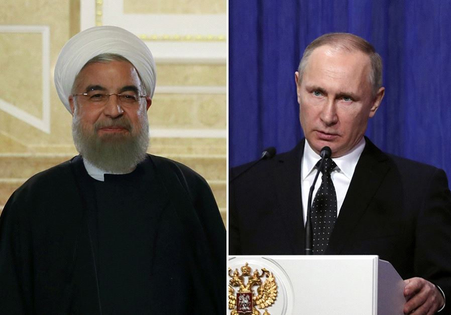 Rouhani and Putin (photo credit: REUTERS)