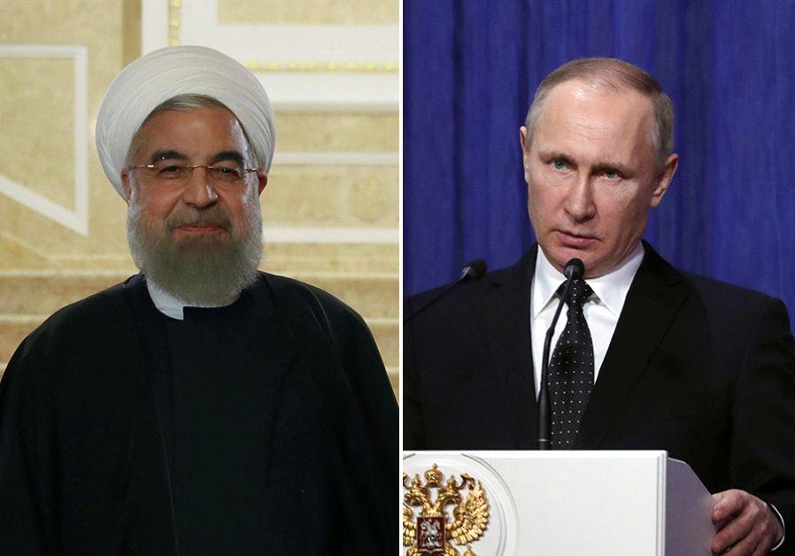 Rouhani and Putin (photo credit: REUTERS)
