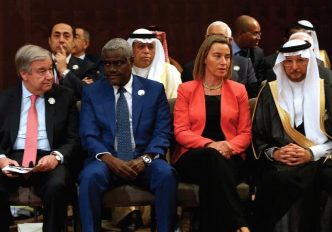 ATTENDING THE Arab League Summit in Jordan yesterday are, front row from left, UN Secretary-General