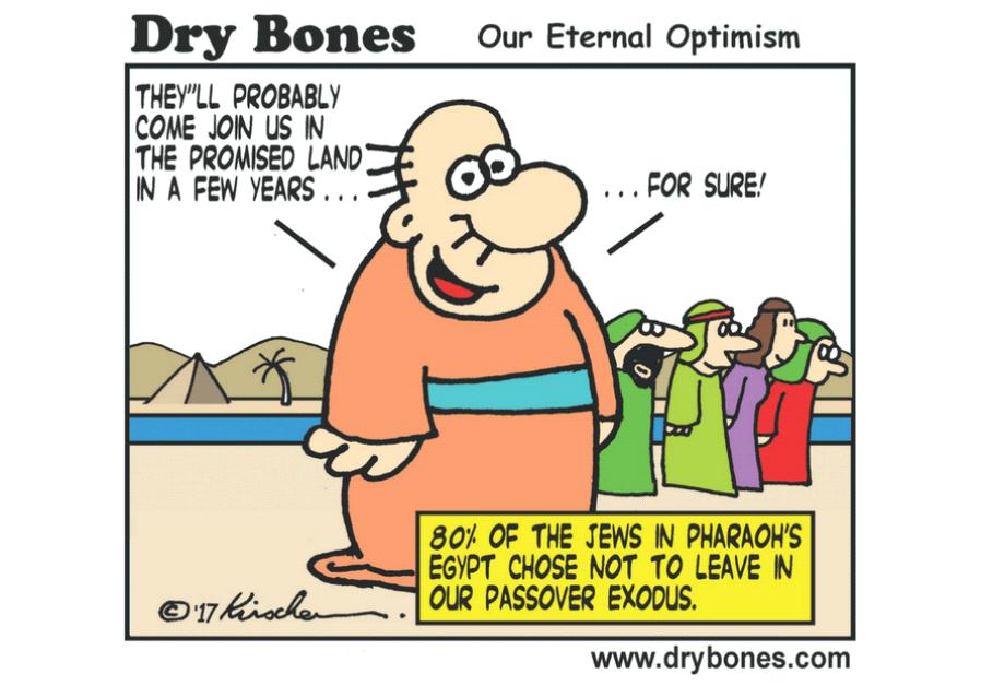 Dry Bones Cartoon, March 31 2017