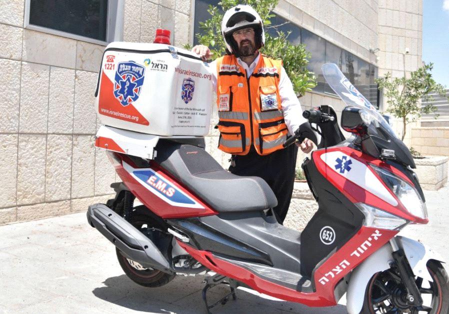 CHAIM DOVID GOLDMAN, a United Hatzalah volunteer EMT.