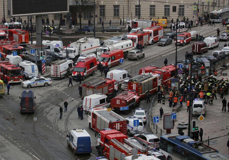 Bomb blast kills 10 in St Petersburg, Russia