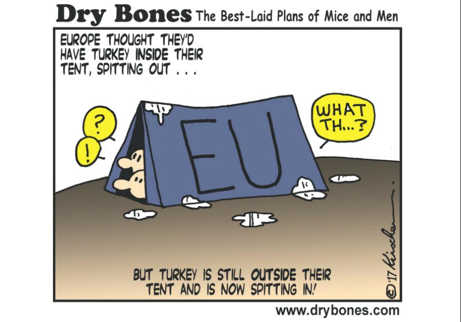 Dry Bones Cartoon, April 4 2017