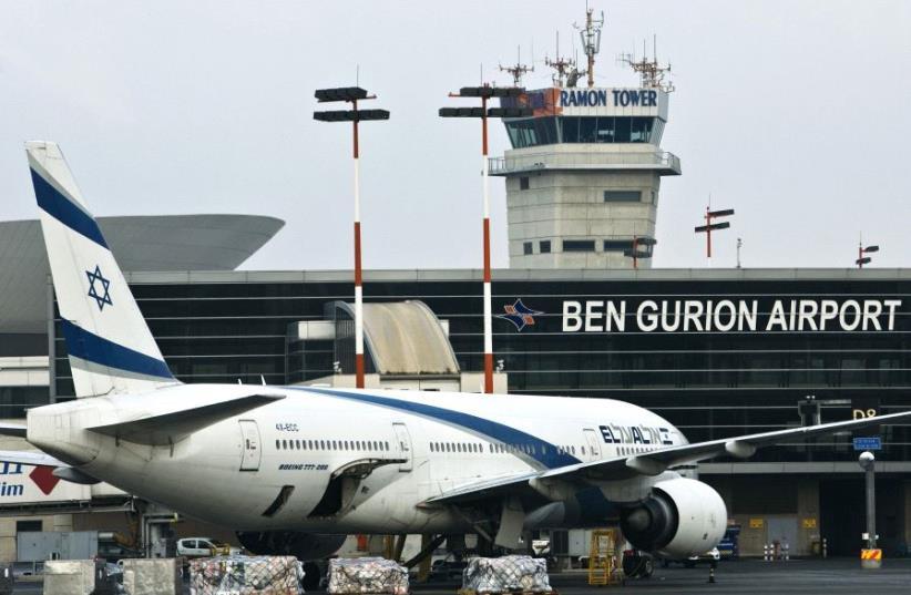 An El Al Boeing 777 aircraft at Ben-Gurion International Airport (photo credit: REUTERS)