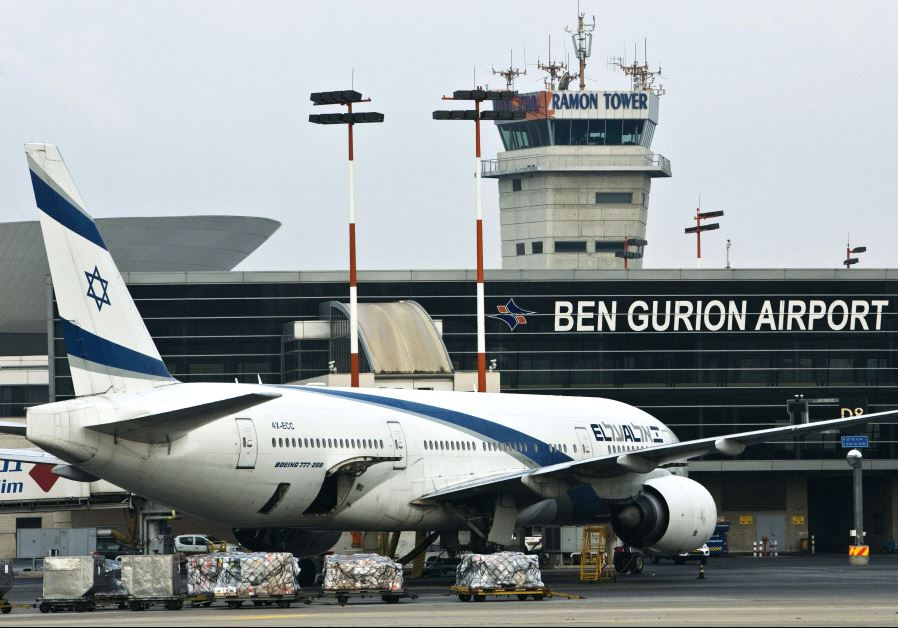 An El Al Boeing 777 aircraft at Ben-Gurion International Airport