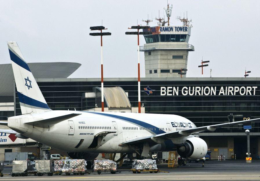 An El Al Boeing 777 aircraft at Ben-Gurion International Airport