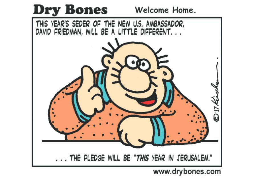 Dry Bones Cartoon, April 7 2017