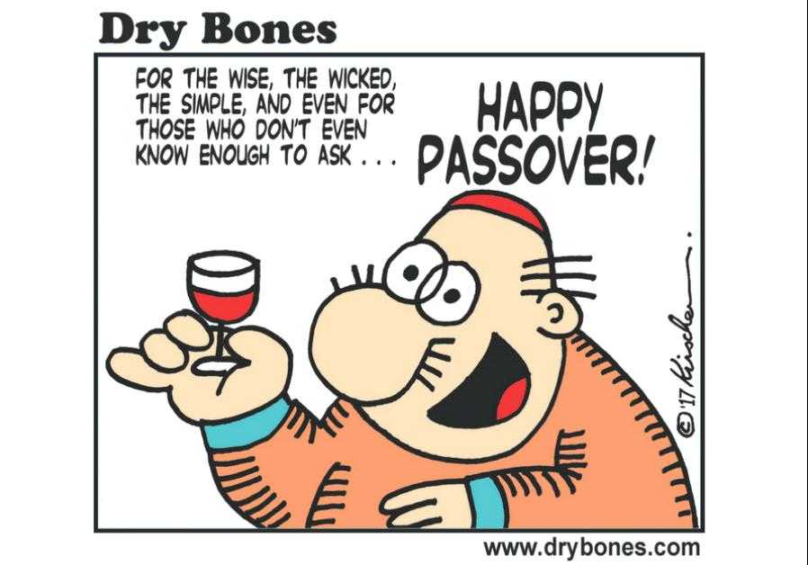 Dry Bones Cartoon, April 9 2017