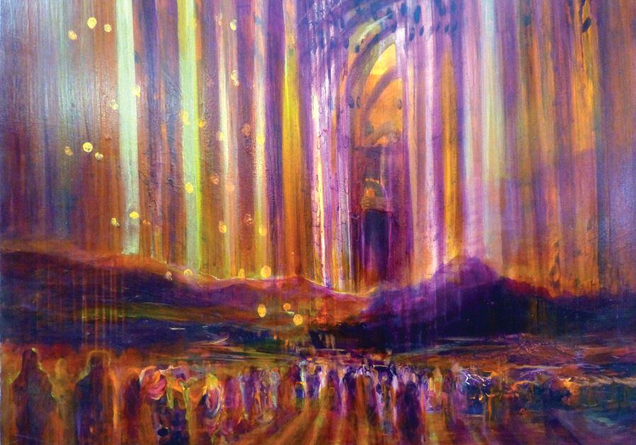 Painting 'B'chukotai' by Yoram Raanan