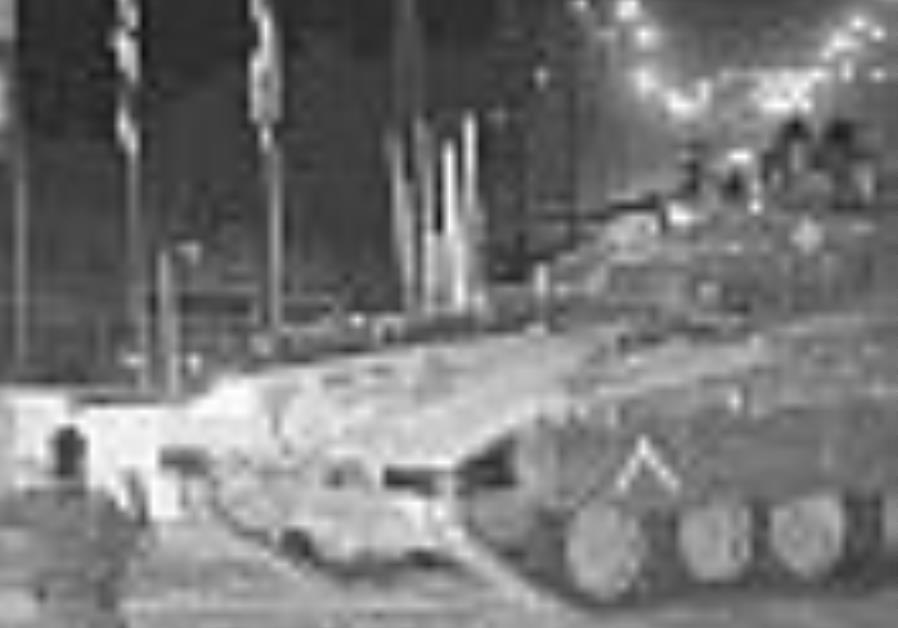 IDF tank leaves gaza 88