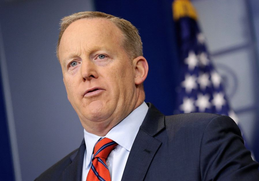 White House Press Secretary Sean Spicer speaks during a press briefing at the White House.