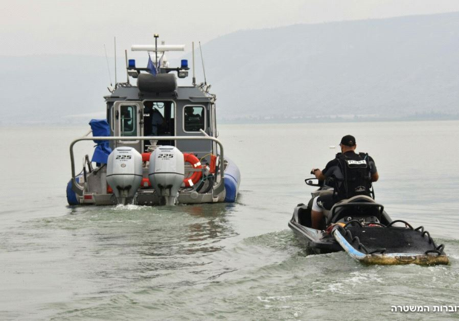 Police forces search for missing youth on Lake Kinneret