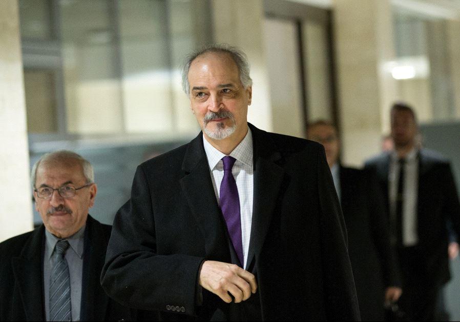 Syrian envoy to the UN, Bashar al-Jaafri.