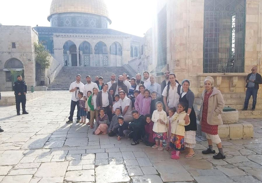 A GROUP of residents from Har Bracha south of Nablus in the West Bank visit the Temple Mount on Sund