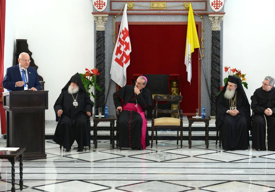 President Rivlin visits Latin Patriarchate in Jerusalem in honor of Easter