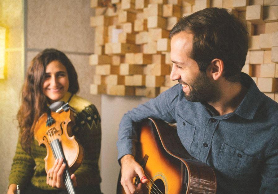 JERUSALEM FOLK duo Tamar and Netanel.