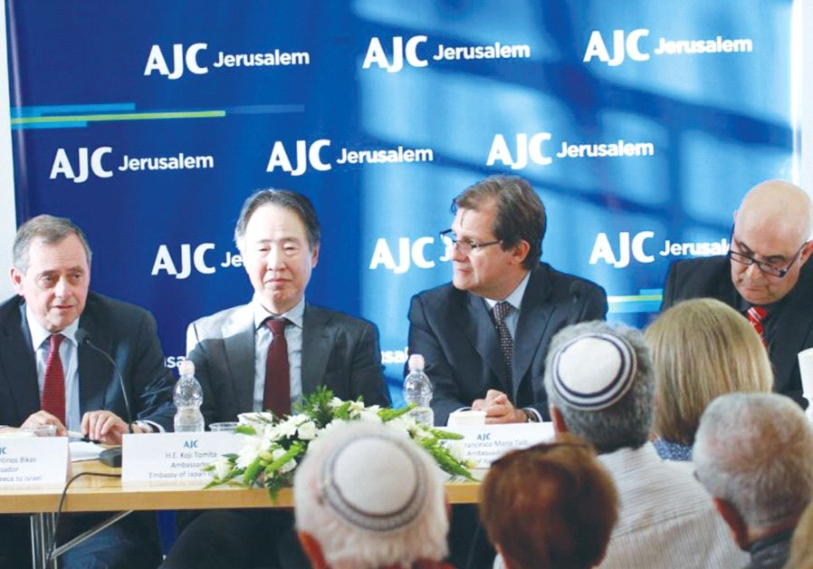 PARTICIPATING IN A panel discussion in Jerusalem on Thursday are, from left, Greek Ambassador Konsta