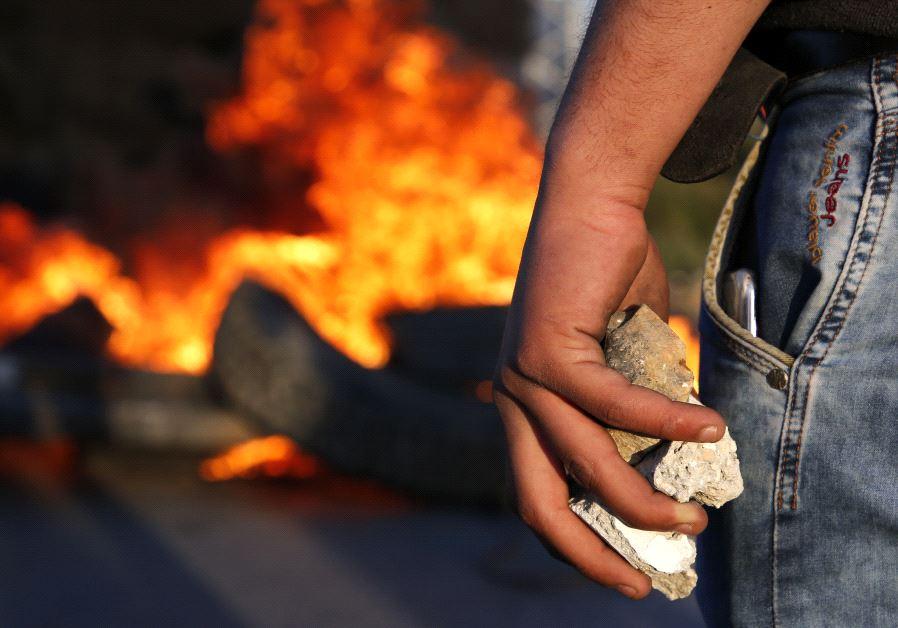 IDF Palestinians clash