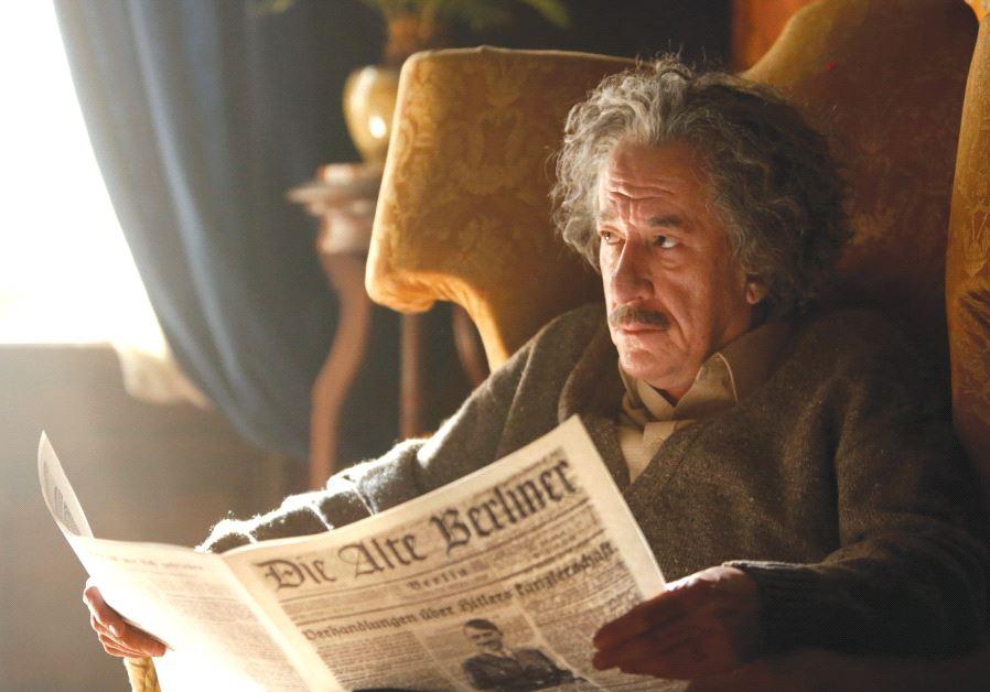 GEOFFREY RUSH stars as Albert Einstein in 'National Geographic's 'Genius.' (photo credit: DUSAN MARTINCEK/NATIONAL GEOGRAPHIC)