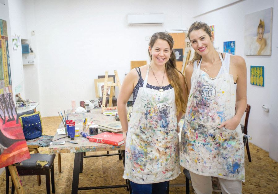MICHAL BERMAN (left) and Natasha Miller Gutman (right) at their Tel Aviv studio