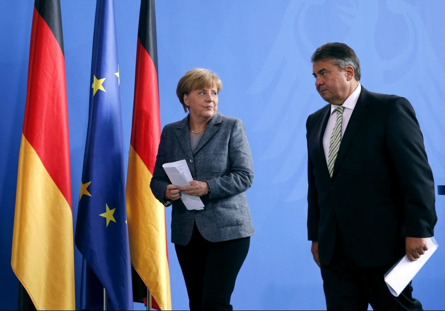 Angela Merkel and Sigmar Gabriel.