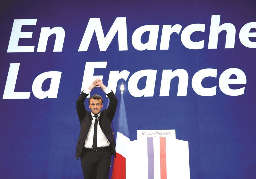 Le candidat d'en Marche, Emmanuel Macron