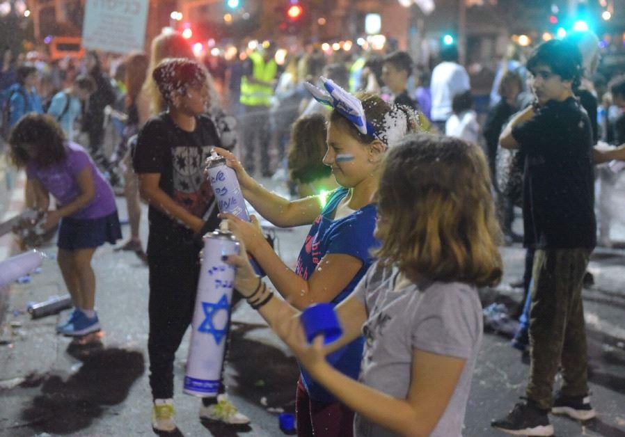 Children celebrate Independence Day at Tel Aviv's Rabin Square