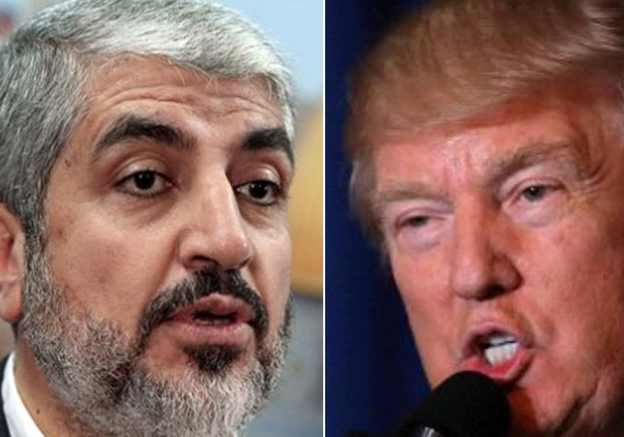Hamas leader Khaled Meshaal and US President Donald Trump