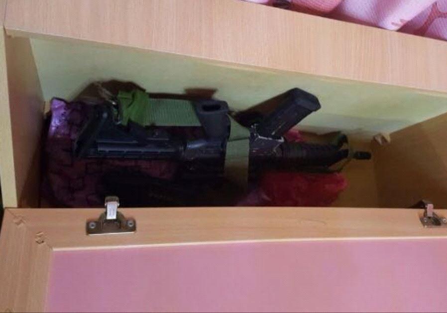 IDF finds gun under childs bed in raid.