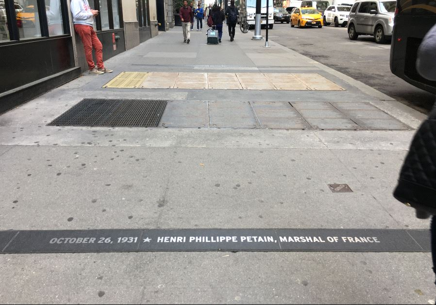 "The name French Nazi collaborator Henri Philippe Pétain is engraved in New York City's ""Canyon of He"