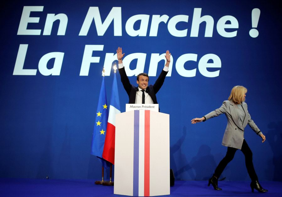 French President Emmanuel Macron, head of the political movement En Marche!