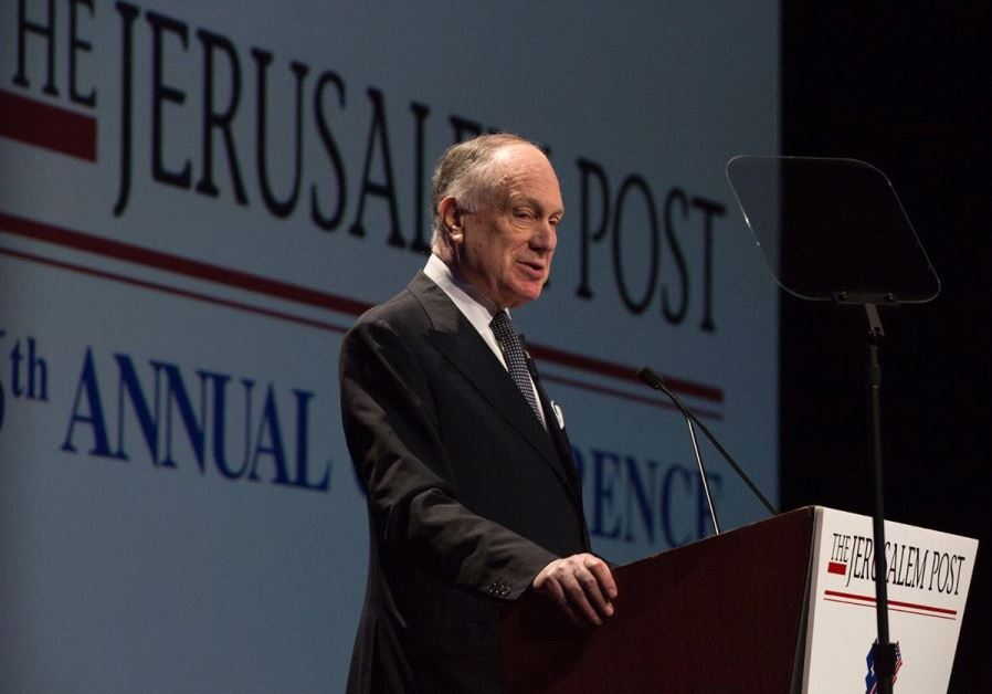 Ronald S. Lauder at the 2017 JPost Annual Conference .